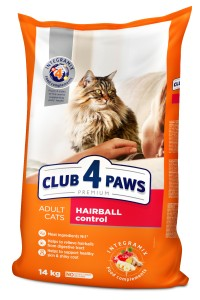 CLUB 4 PAWS Adult Hairball control 14kg