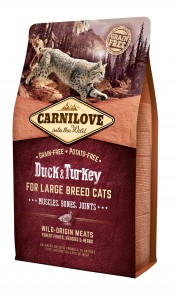 CARNILOVE Cat Duck & Turkey LARGE BREED 2kg
